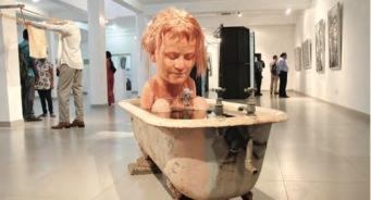 Installation shot of Colombo Art Biennale, 2014 Image Courtesy: Colomboartbiennale.org